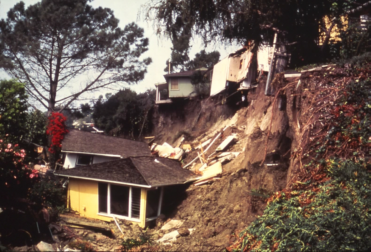 Landslide destroys homes