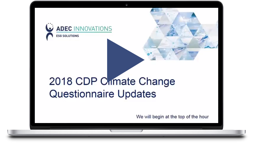 ADEC Innovations: CDP's 2018 Climate Change Questionnaire Updates