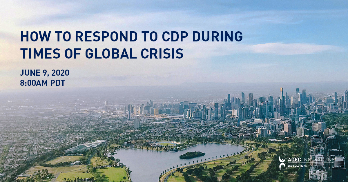 Responding to CDP During Times of Global Crisis