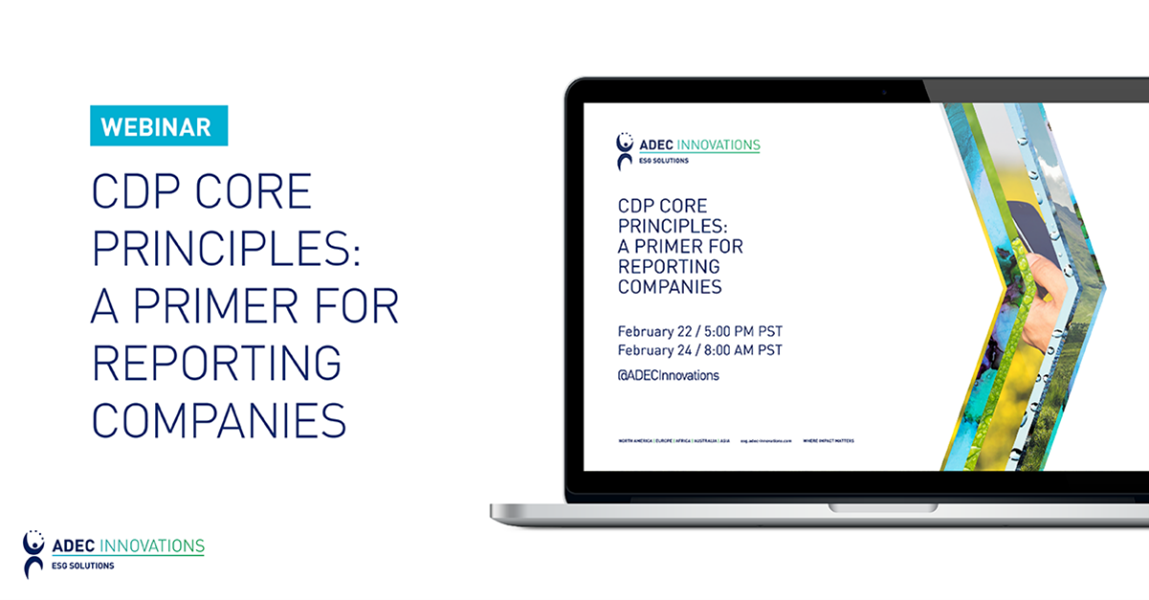 CDP Core Principles: A Primer for Reporting Companies