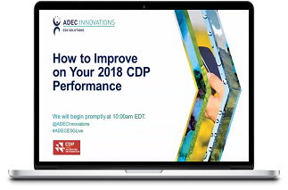 ADEC Innovations Live Workshop: How to Improve on Your 2018 CDP Performance