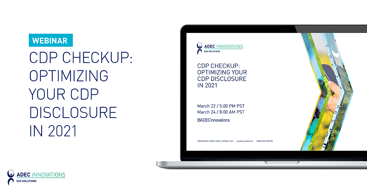 CDP Checkup: Optimizing Your CDP Disclosure in 2021